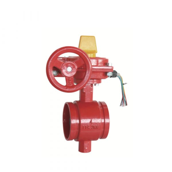 XD381X - Grooved Butterfly Valve with Tamper Switch