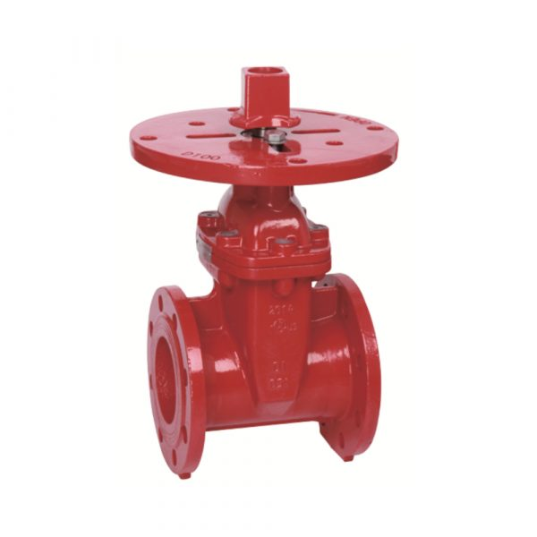 BS Flanged Resilient NRS Gate Valve, with Post Flange